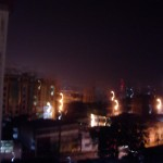 Douala at night